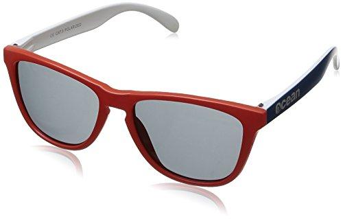 Ocean Sunglasses - Sea - lunettes de soleil polarisées - Monture : Rouge/Bleu - Verres : Fumée (40002.32)