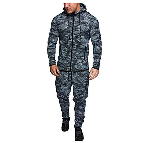 Blaue Kornblume Sportkleidung Klage Hoodie Trainingshose Mann Junge Jogginganzug Reißverschluss MEN18Black,XXXL(hudis Pullover Damen Kontra k Pullover Kragen Pullover Damen Rollkragenpullover)
