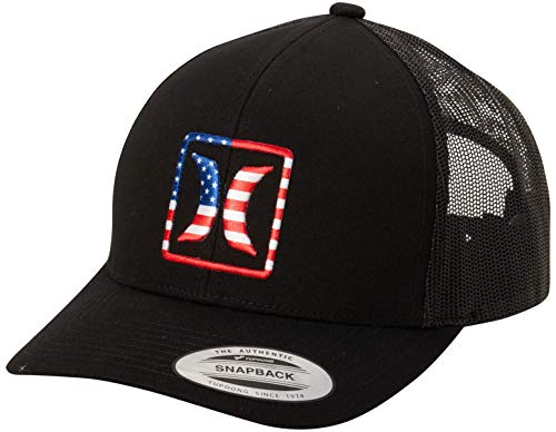 Hurley Gorra de béisbol para hombre – Patriótico de Estados Unidos bandera de Estados Unidos, EE.UU, Talla única