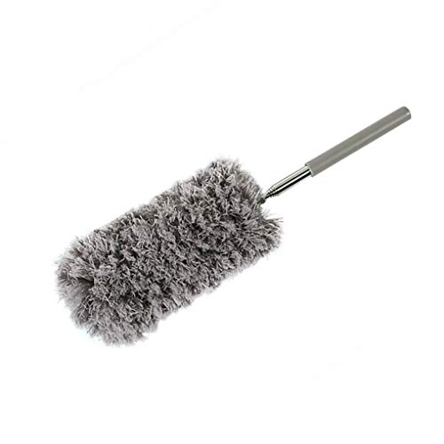 zhibeisai Microfiber Dust Duster Adjustable Long Handle Cleaner Wall Window Ceiling Curtain Car Windshield Cleaning Tool