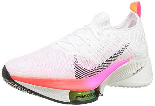 Nike Air Zoom Tempo Next% FK T, Scarpe da Corsa Uomo, White/Black-Washed Coral-Pink, 40 EU