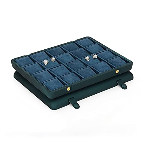 OMIDM Jewelry Box, Organizer Superior Práctico para Collares Pendientes Anillos Soportes Soportes Organización De Almacenamiento, Tamaño Plano De Ahorro De Espacio (Color : D)