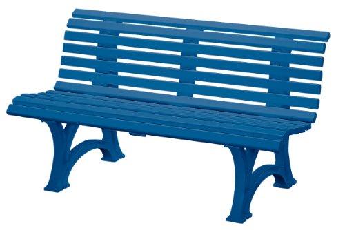 "Preisvergleich Produktbild Blome-Tillmann Gartenbank""Neptun / Helgoland"" Kunststoffgestell blau"