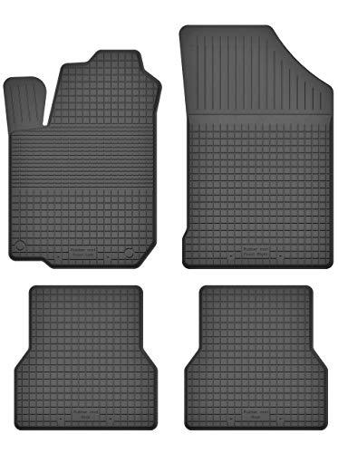 KO-RUBBERMAT Gummimatten Fußmatten 1.5 cm Rand geeignet zur KIA PICANTO I (Bj.2004-2010) ideal angepasst 4 -Teile EIN Set