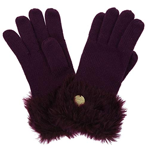 Regatta Luz' Faur Fur Trim Gloves Gants Femme, Prune, L-XL