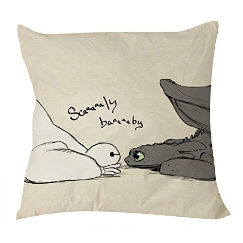 Jtartstore Baymax and Toothless Scaly Baby Pillow Case 18 x 18 inches