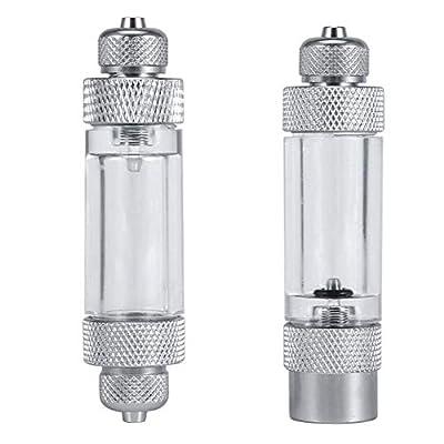 Behavetw Aquarium CO2Bubble Compteur Simple/Double tête en Alliage d'aluminium Anti-Retour Compteur de Bulles Diffuseur Atomiseur Réacteur Appareil