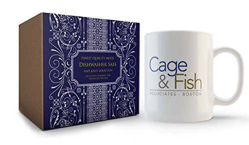 Cage & Fish Mug Inspired by Ally McBeal by Cultzilla