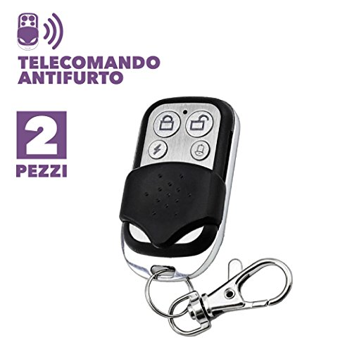 KIT DA 2 PEZZI - TELECOMANDO UNIVERSALE SUPPLEMENTARE ALLARME ANTIFURTO CASA WIRELESS GSM 433,92