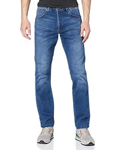 Wrangler Greensboro Straight Leg, Jeans Uomo, Blu (Mid Blue), W32/L34