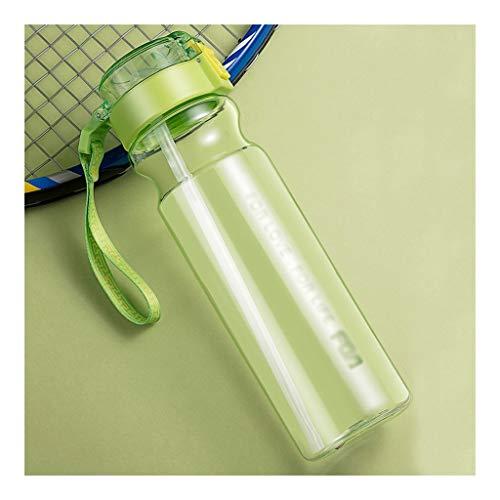 Práctica botella de agua 700ML se divierte la botella de agua con la manija y la botella StrawSports Frasco sin BPA de bebidas, for Running gimnasio al aire libre y el día a día de uso Regalo ideal