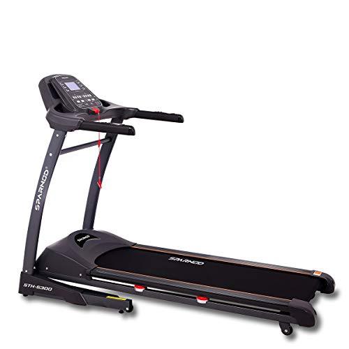 SPARNOD FITNESS STH-5300 (5.5 HP Peak) Automatic Treadmill Free Installation Service - Foldable Motorized Walking & Running...