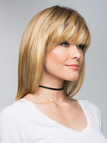 Spellbound Wig Color MOLTEN AMBER - Rene of Paris Wigs 12' Long Layered Brow-Skimming Fringe Orchid Collection Womens Heat Friendly Synthetic African American Bundle Maxwigs Hairloss Booklet