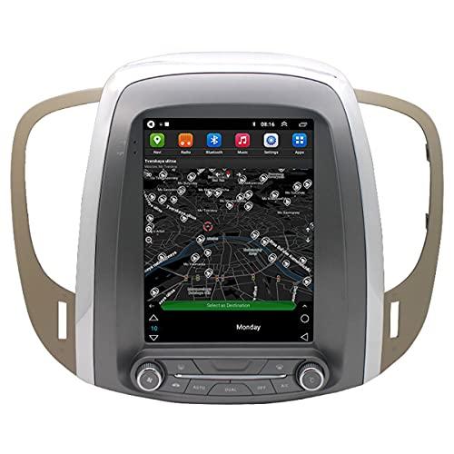 BANNESE Navegador GPS Coche Radio De Coche con Bluetooth, 9.7 Pulgadas Pantalla Táctil, Android Sistema De Navegación, Support Radio FM, Control del Volante, para Buick Lacrosse 2009-2012