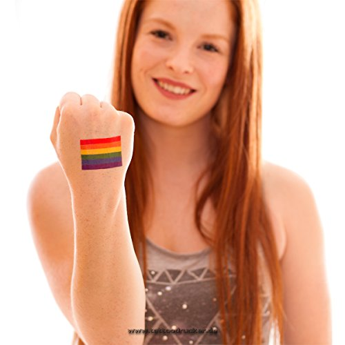 10 x Regenbogen Tattoo Fahne - CSD Tattoo - LGBT Rainbow Pride Tattoo (10)