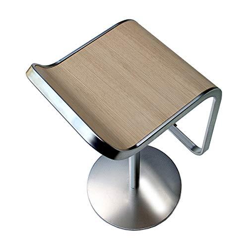 lapalma Lem S81 80 Fix Barhocker Gestell Chrom matt, Eiche Gebleicht Holz Gestell matt verchromt