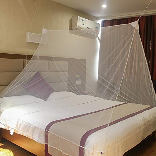HUHD Musquito Bug Net, Mini Draagbare Opvouwbare Plafond Enkele Slaapbank Bed Muggennet Voor Outdoor Reizen