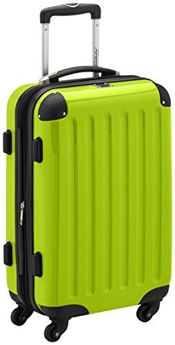 HAUPTSTADTKOFFER - Alex - Handgepäck Hartschalen-Koffer Trolley Rollkoffer Reisekoffer Erweiterbar, 4 Rollen, TSA, 55 cm, 42 Liter, Apfelgrün