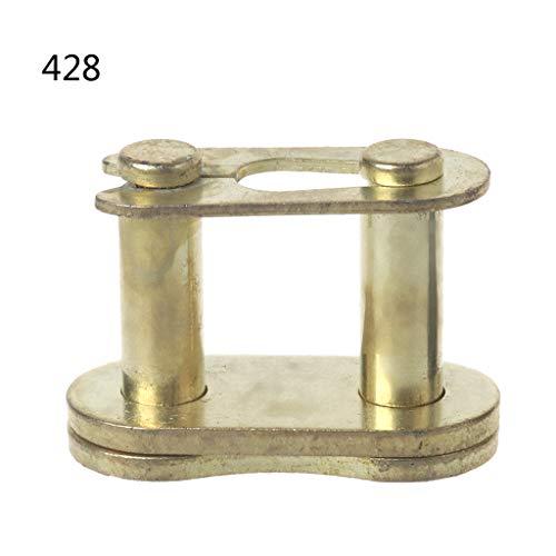 Qiman Motorrad Kettenschloss Ring Link 25H # T8F # 420# 428# 520# 530# (# 428, Gold)