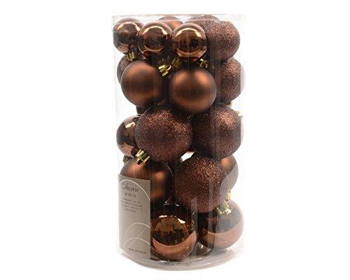 30 palline di Natale infrangibili – Tartufo marrone – 340599