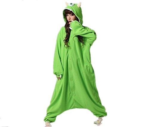 Everglamour - Pijama/mono, monstruo Mike, verde