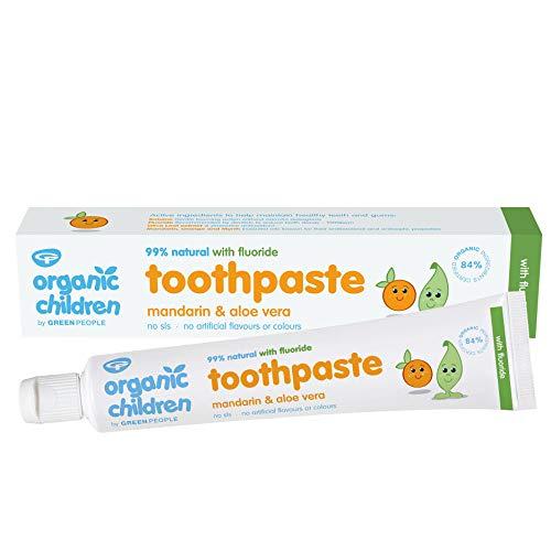 Organic Children Mandarin and Aloe Vera Fluoride Toothpaste