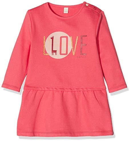 ESPRIT KIDS Baby-Mädchen RP3103109 Knit Dress Kleid, Rosa (Coral 323), (Herstellergröße: 62)