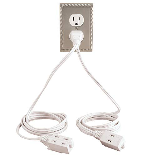 Collections Etc Double Ended Extension Cord, White