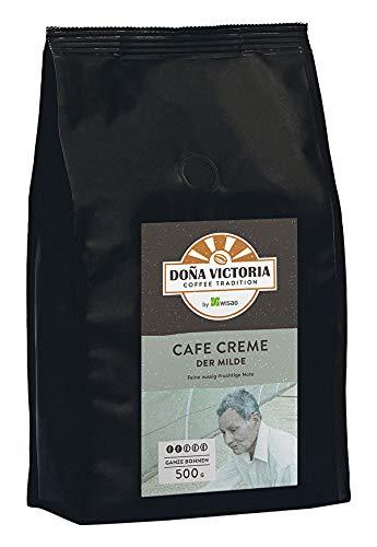 Doña Victoria Kaffeebohnen - Cafe Creme, der Milde Stärke 2, für Siebträger und Kaffeevollautomaten, 500 Gramm