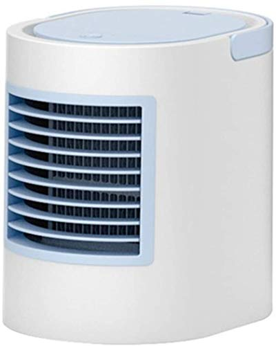 SHSM Mini USB Portable Air Cooler, Fan Air Conditioner 7 Color Light Desktop Air Cooling Fan Humidifier Purifier Office Bedroom Atomizer/Blue / 6.69 * 7 * 5.24inch