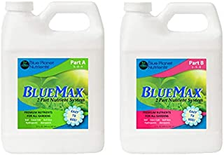 Blue Planet Nutrients BlueMax 2 Part Complete Plant Food (32 oz Bottles) All Purpose Fertilizer | Grow Fruits Flowers Vegetables Herbs Trees Shrubs Houseplants Succulents | for All Plants & Gardens