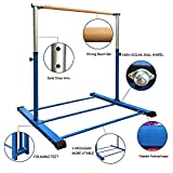 Sumery Foldable&Movable Gymnastic Kip Bar,Horizontal Bar for Kids Girls Junior,3' to 5' Adjustable Height,Home Gym Equipment,Ideal for Indoor and Home Training,1-4 Levels,300lbs Weight Capacity