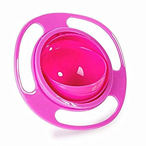 Universal Gyro Bowl Anti Spill Schüssel Glatte 360 Grad Rotation Gyroskopische Schale Für Baby Kids Bobury (rot)