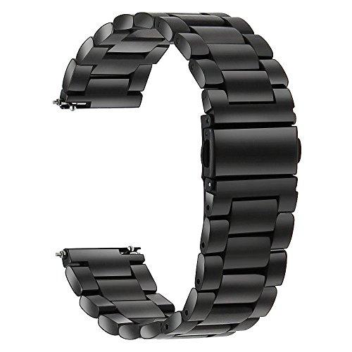 TRUMiRR Reemplazo para Galaxy Watch 46mm/Gear S3 Frontier/Gear S3 Classic, 22mm Correa de Reloj de Acero Inoxidable Correa de liberación rápida para Samsung Gear S3 Classic/Frontier/Galaxy Watch 46mm