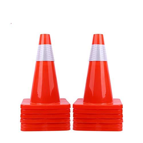 [ 12 Pack ] 18' Traffic Cones Plastic Road Cone PVC Safety Road Parking Cones Weighted Hazard Cones Construction Cones Orange Safety Cones Parking Barrier Field Marker Cones Traffic Cones (12)