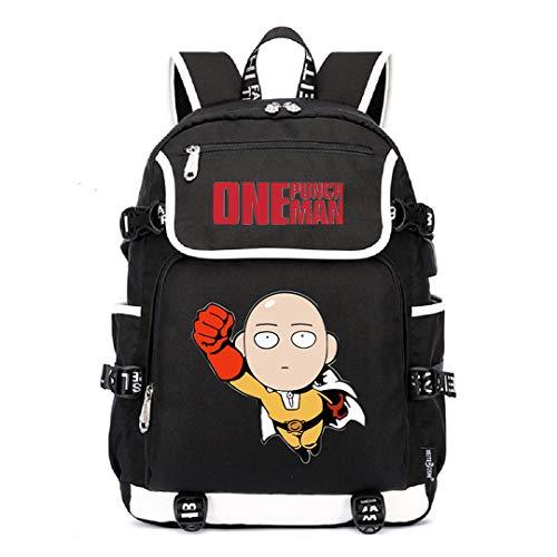 Siawasey Anime One-Punch Man Cosplay Saitama Backpack Daypack Bookbag Laptop School Bag with USB Charging Port