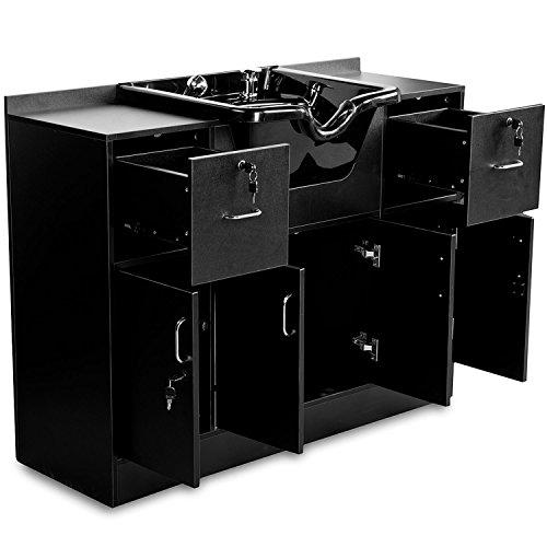 256018 schwarz Vorwärtswaschbecken Friseur Waschbecken Einbauschränke Salon Spa