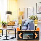 Máquina de karaoke,KOSIEJINN Máquina de karaoke portátil con Bluetooth con 2 micrófonos inalámbricos,altavoz con tarjeta USB/TF/entrada auxiliar,para reunión/boda/iglesia/exterior/interior