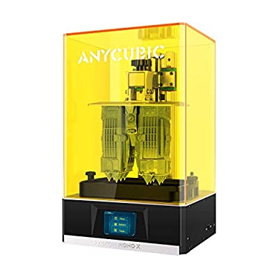 "ANYCUBIC Photon Mono X 3D Printer, LCD UV Resin 3D Printer with 8.9"" 4K Monochrome LCD and WiFi Function, Large Build Volume 192mm(L) x120mm(W) x245mm(H)"