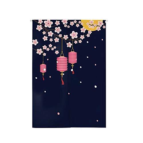 Insun Noren Tenda con Asta Telescopica Giapponese della Porta Decorativo Arazzo Tenda Corridoio per la Casa Tessuto Fiore di ciliegios 4 85cm X 150cm