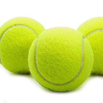 High Living® Lot de 12 balles de tennis pour chien Jaune