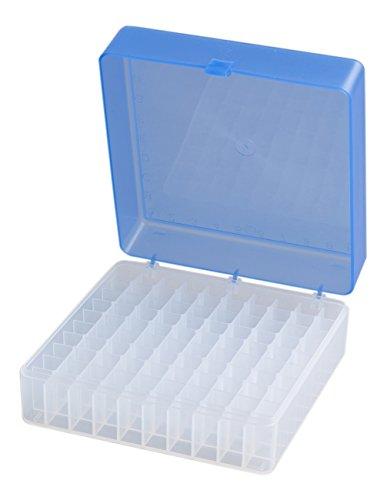 Camlab plastica, RTP/B -72101-Scatola portaoggetti, 100 luogo, in polipropilene, colore: blu