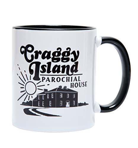 Father Ted Inspired Craggy Island Parochial House Black Handle Mug