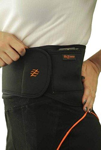 Blazewear Fascia Lombare Riscaldabile Modello Premium con batterie Litio Ricaricabili 3,7V (Small)