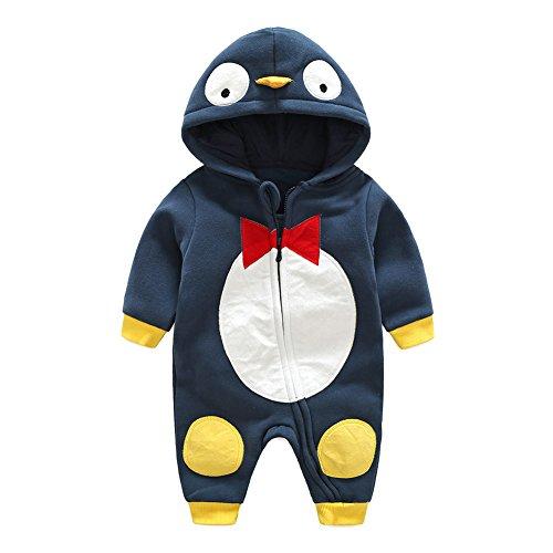 Baby Strampler Baumwoll Overall Mädchen Jungen Schlafanzug Pyjamas Unisex Kleinkind Outfits Kleidung Set Tiger/Ente/Pinguin 0-12 Monate