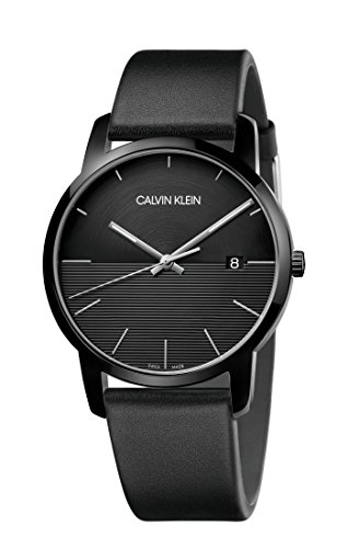 Calvin Klein Herren Analog Quarz Uhr mit Leder Armband K2G2G4C1