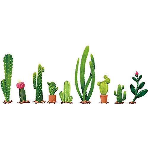 Calcomanía de pared extraíble de la familia de cactus, pegatina para el hogar familiar, decoración del hogar, sala de estar, pegatina para espejo de bebé