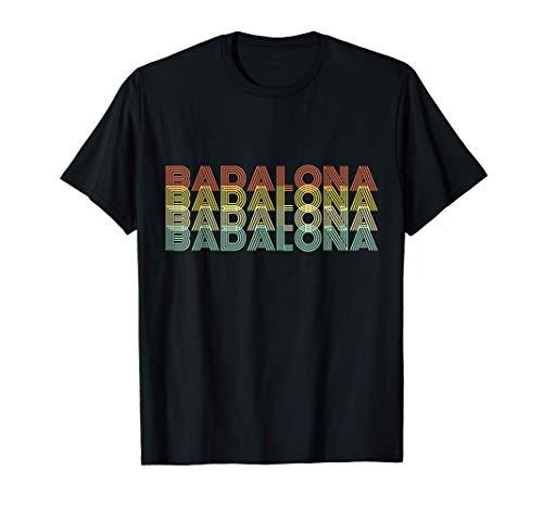 Badalona Retro Inicio Vintage Ciudad Natal Camiseta