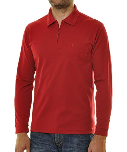 Ragman Langarm Poloshirt Softknit 3XL, Beere-665 3XL Beere-665