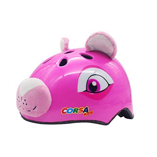 YGJT Casco Bicicleta Niños Protección de Cabeza de Seguridad de Dibujos Animados S 50-54CM para Niños de 2-6 Años Peso Ligero Transpirable para para Bicicleta/Patineta/Scooter